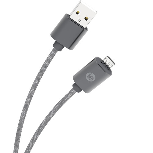 iEssentials 10' Braided Micro USB Cable (Gray)