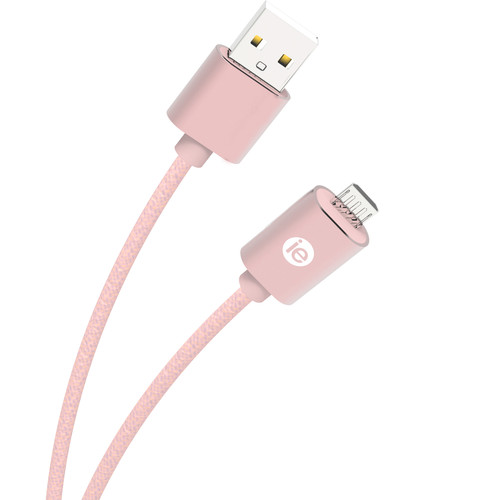 iEssentials Braided Micro-USB Cable (10', Rose Gold)