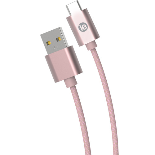 iEssentials 6' Braided USB-C to USB-A Cable (Rose Gold)