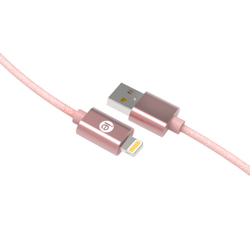 iEssentials 6' Braided Lightning USB Cable (Rose Gold)