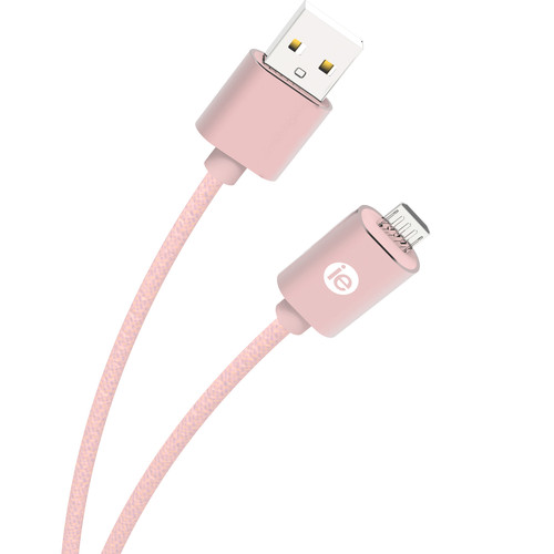 iEssentials 6' Braided Micro USB Cable (Rose Gold)