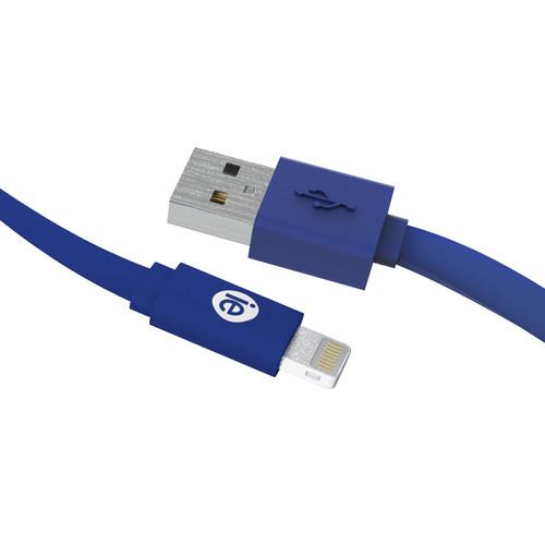 iEssentials 4' Flat Lightning to USB Cable (Metallic Blue)
