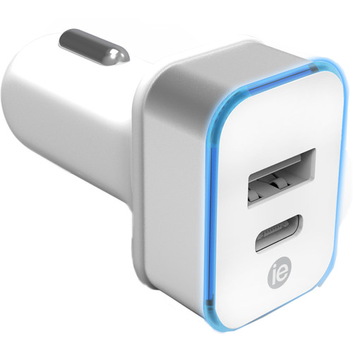 iEssentials 3.4A USB Type-A and USB Type-C Car Charger