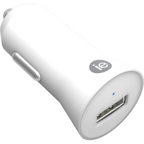 iEssentials 1A USB Type-A Car Charger (White)