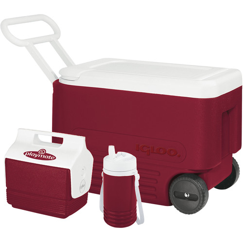 Igloo 38 Quart Wheelie Cooler, Playmate Mini Cooler & Legend 1 Quart Cooler Camping Set
