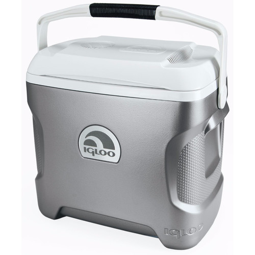 Igloo Iceless 28 Qt. Thermoelectric Cooler (Silver/White)