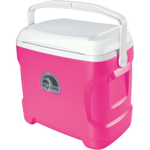 Igloo Contour 30 Quart Cooler (Pink/White)