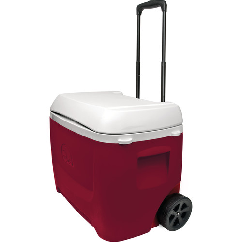 Igloo Island Breeze 60 Quart Roller Red Wheeled Cooler