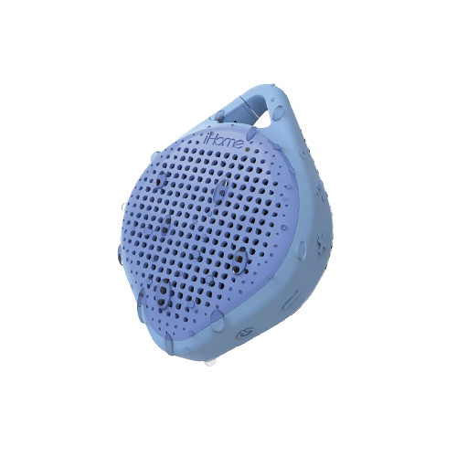 iHome iBT15 Splashproof Bluetooth Rechargeable Speaker with Speakerphone (Blue)