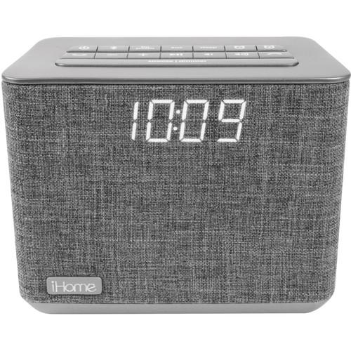 iHome iBT232 Dual-Alarm Bluetooth Clock Radio (Gray)