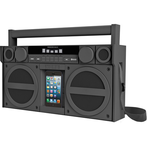 iHome iBT44 Bluetooth Portable FM Stereo Boombox with USB Charging in Rubberized Finish