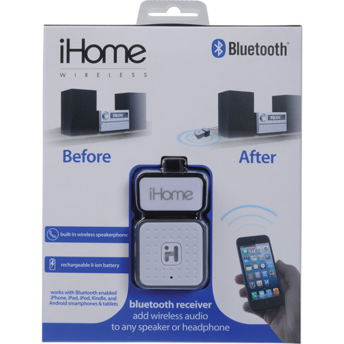 iHome Portable Rechargeable Bluetooth Music Receiver