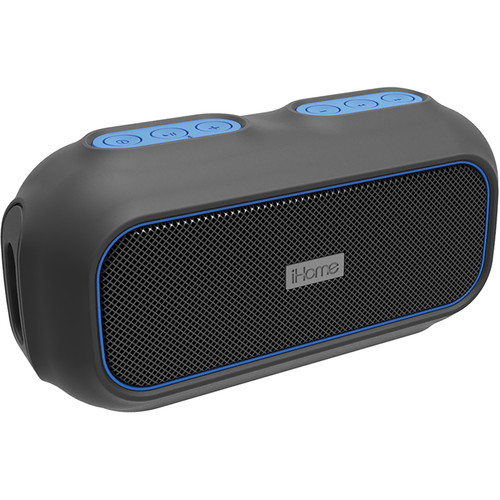iHome iBT9 Ruggedized Bluetooth Wireless Speaker (Black/Blue)