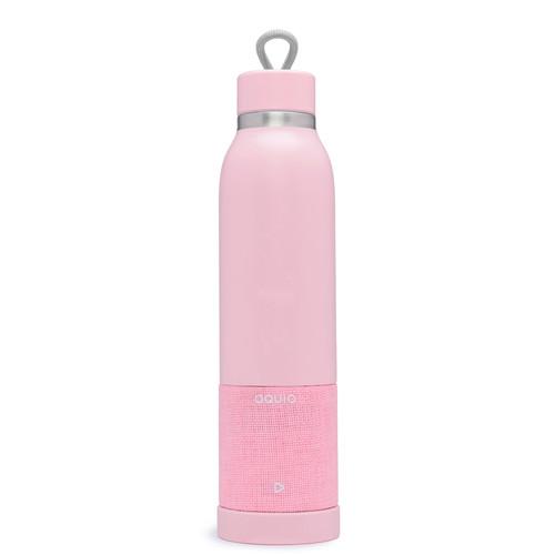 iHome Aquio 16oz Bottle with Bluetooth Waterproof Speaker (Blush)
