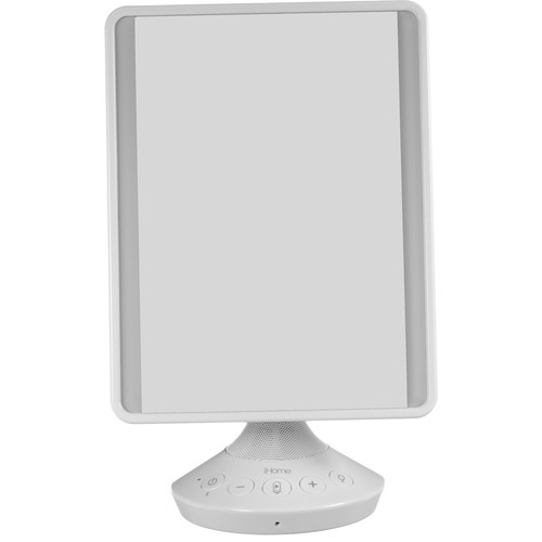 "iHome Reflect 7 x 9"" Vanity Mirror with Bluetooth (White)"