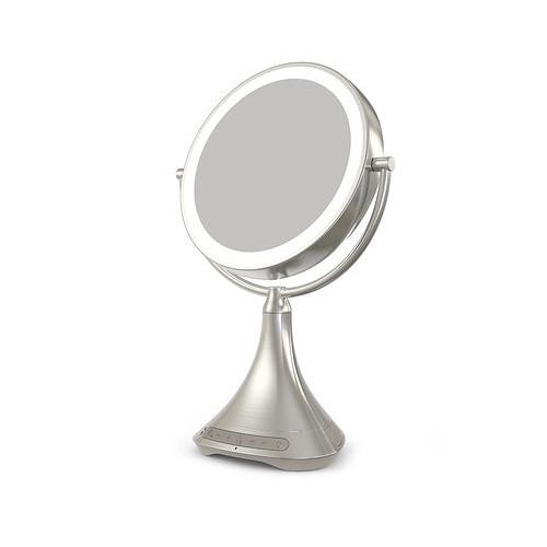 "iHome 9"" Double-Sided Vanity Mirror (Silver Nickel)"