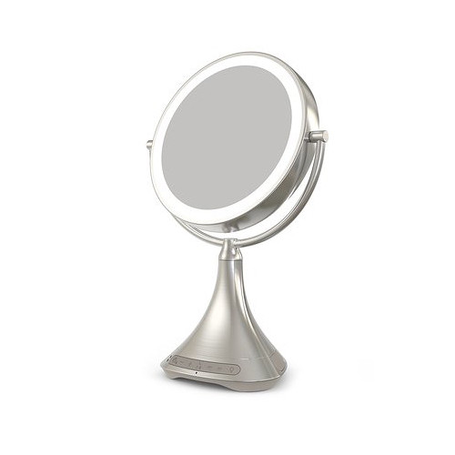 "iHome 9"" Double-Sided Vanity Mirror (Silver Nickel)"