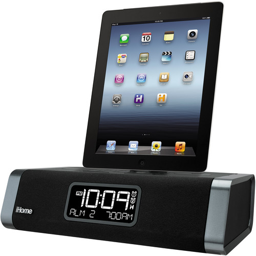 iHome iDL45 Dual Charging Stereo FM Clock Radio with Lightning Dock and USB Charge/Play for iPad/iPhone/iPod