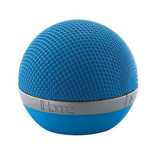 iHome Rechargeable Portable Bluetooth Speaker (Blue)