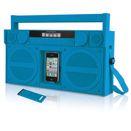 iHome iP4 Portable FM Stereo Boombox for iPhone/iPod (Blue)
