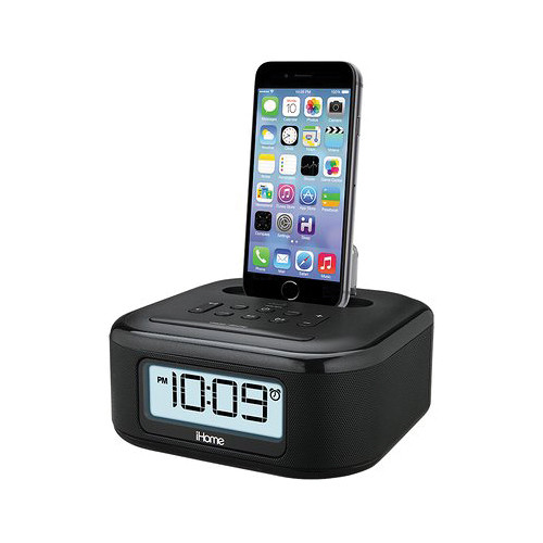 iHome iPL23 Stereo FM Clock Radio with Lighting Dock (Black)