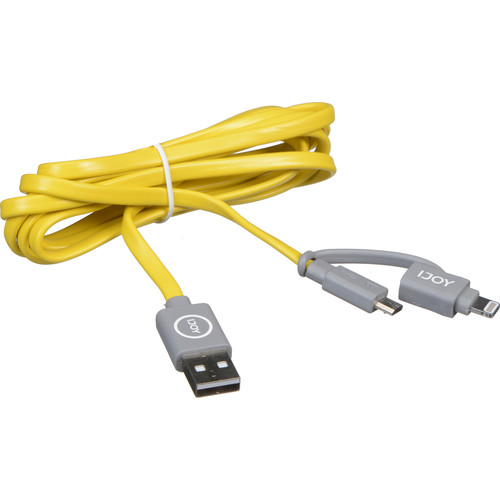 iJOY 2-in-1 Micro-USB and Lightning Sync + Charge Cable (6', Yellow)