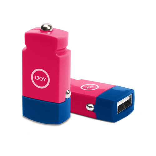 iJOY USB 2.1A Mini Car Charger (Pink)