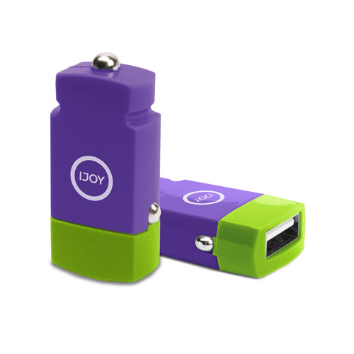 iJOY USB 2.1A Mini Car Charger (Purple)