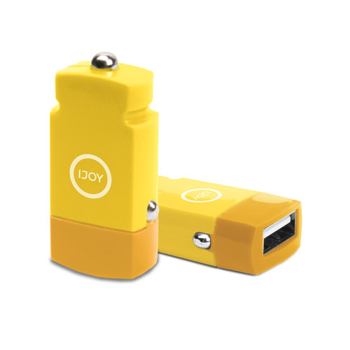 iJOY USB 2.1A Mini Car Charger (Yellow)