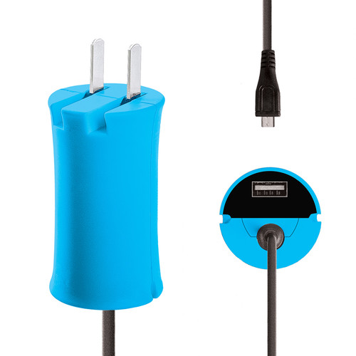 iJOY Micro-USB Wall Charger Set (Blue)