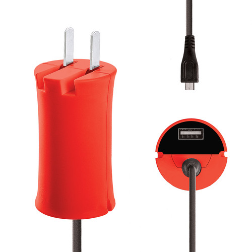 iJOY Micro-USB Wall Charger Set (Red)