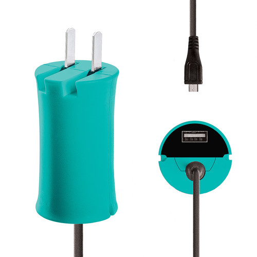 iJOY Micro-USB Wall Charger Set (Turquoise)