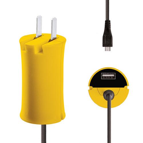 iJOY Micro-USB Wall Charger Set (Yellow)
