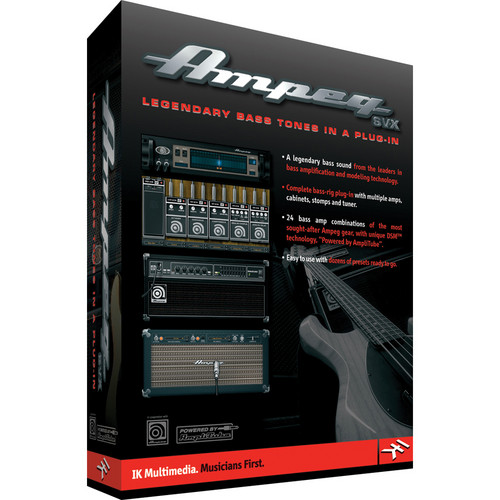 IK Multimedia Ampeg SVX - Bass Amplifier and Cabinet Emulation Software (Plug-In, Download)