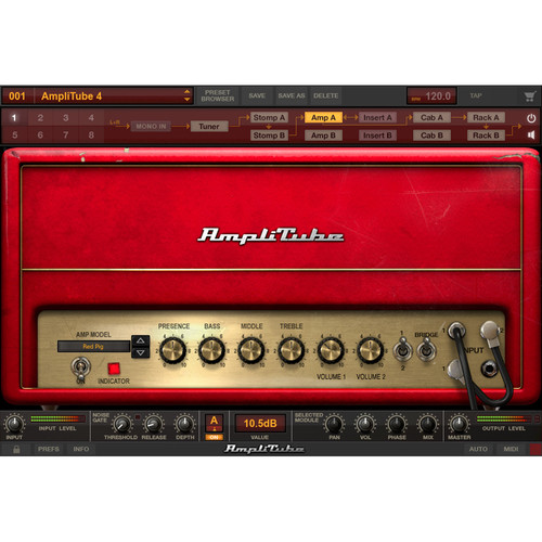 IK Multimedia AmpliTube 4 - Guitar Amplifier and Cabinet Emulation Software (Download)
