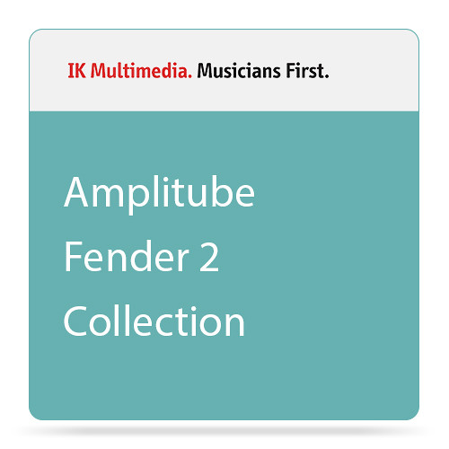 IK Multimedia AmpliTube Fender Collection 2, Classic Tube Amp Plug-Ins for iOS (Download)