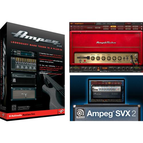 IK Multimedia Ampeg SVX 2 Power DUO Bundle - Guitar & Bass Amplifier and Cabinet Emulation Software (Download)