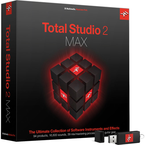 IK Multimedia Total Studio Bundle 2 Max - Software for Audio Production, Mixing & Mastering (Crossgrade from Any Max Product, Download)
