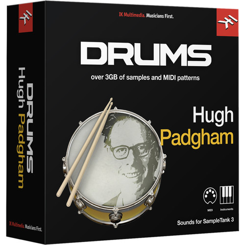 IK Multimedia Hugh Padgham Drums - SampleTank 3 Virtual Instrument (Download)