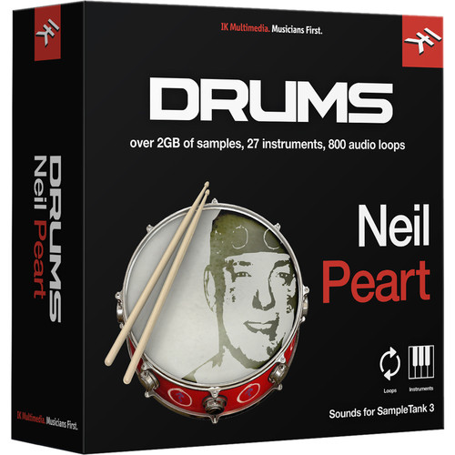 IK Multimedia Neil Peart Drums - SampleTank 3 Virtual Instrument (Download)