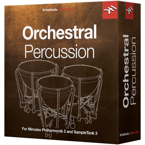 IK Multimedia Orchestral Percussion - Virtual Instrument for Miroslav Philharmonik 2 & SampleTank 3 (Download)