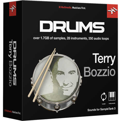 IK Multimedia Terry Bozzio Drums - SampleTank 3 Virtual Instrument (Download)