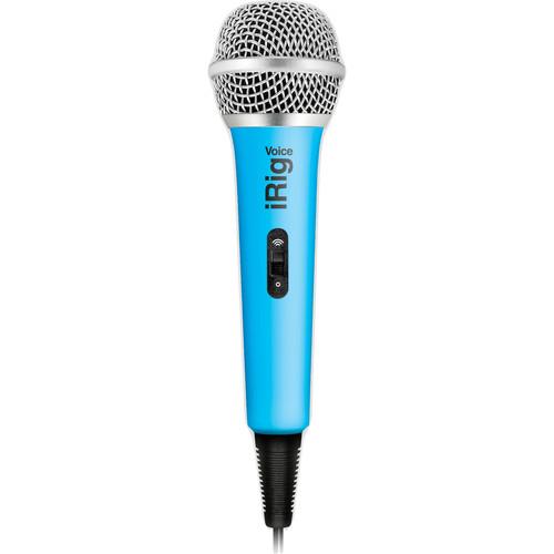 IK Multimedia iRig Voice iOS/Android Handheld Microphone (Blue)