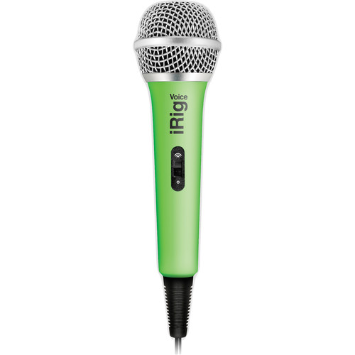 IK Multimedia iRig Voice iOS/Android Handheld Microphone (Green)