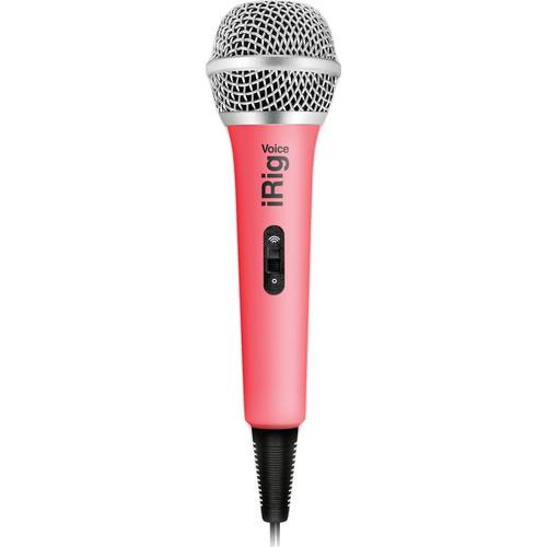 IK Multimedia iRig Voice iOS/Android Handheld Microphone (Pink)