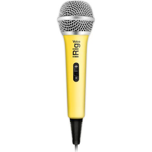 IK Multimedia iRig Voice iOS/Android Handheld Microphone (Yellow)