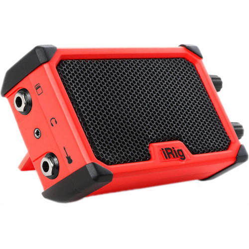 IK Multimedia iRig Nano Amp - Battery-Powered Micro Amplifier & Interface for Mobile Devices (Red)