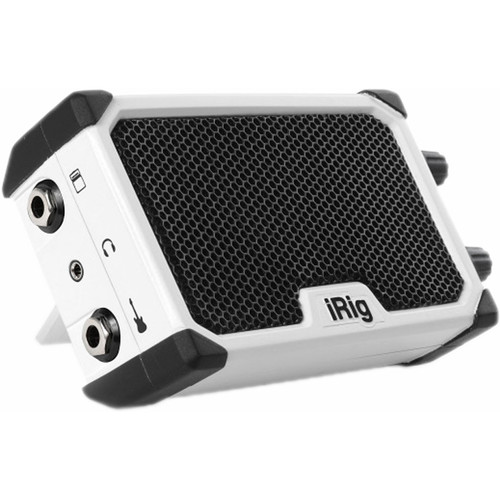 IK Multimedia iRig Nano Amp - Battery-Powered Micro Amplifier & Interface for Mobile Devices (White)