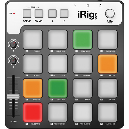 IK Multimedia iRig Pads MIDI Pad Controller for iOS, Android, Mac, and PC