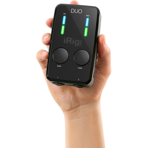 IK Multimedia iRig Pro DUO 2-Channel Audio and MIDI Interface for iOS, Android, and Mac/PC